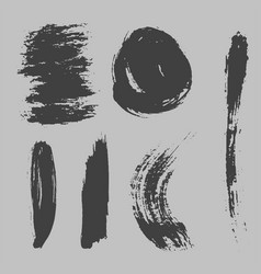 different grunge brush strokes ink art texture vector image vector image