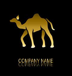 golden camel symbol vector image vector image