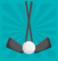 golf clubs ball design vector image