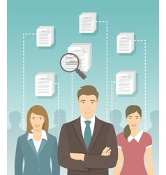 Human resources management flat concept vector