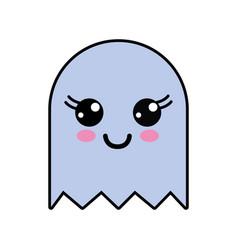 Kawaii cute happy videogame character vector
