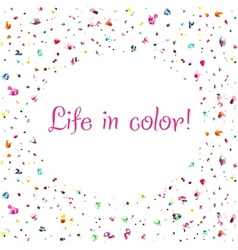 life in color background vector image vector image
