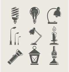 light bulb and lighting vector image vector image