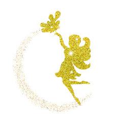 Magical fairy with dust glitters magical fairy vector