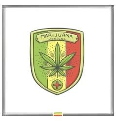 Medical Marijuana Logo Five vector image vector image