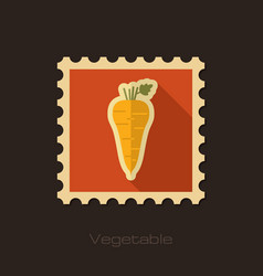 Parsnip root flat stamp vegetable vector