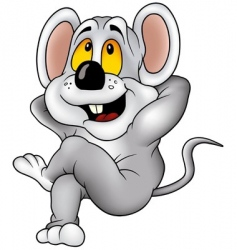 relaxing mouse vector image