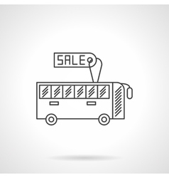 Sale bus flat line design icon vector image vector image