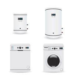 Set of household appliances vector image vector image