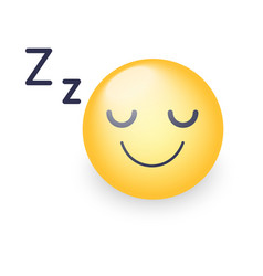 sleeping face sleeping emoticon mood with vector image