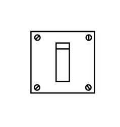 switch on icon vector image vector image