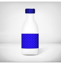 Template of plastic blank milk bottle vector image