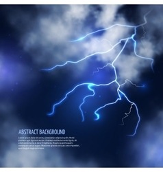 Thunderstorm with clouds and lightnings vector