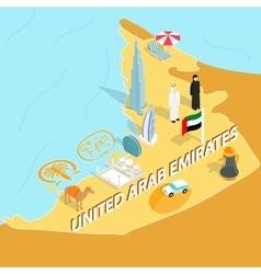 United arab emirates map isometric 3d style vector