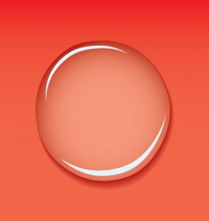 water droplet red vector image