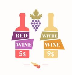 Wine sticker vector
