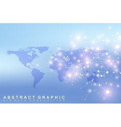 World map with global technology networking vector