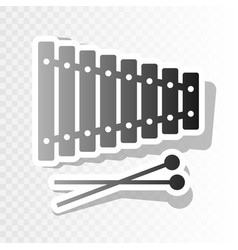 Xylophone sign new year blackish icon on vector