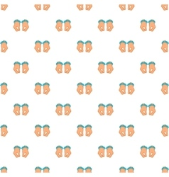 Hands in handcuffs pattern cartoon style vector