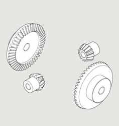 Bevel gear vector