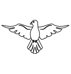 Holy spirit hope faith outline vector