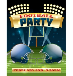American Football Party Flyer vector image