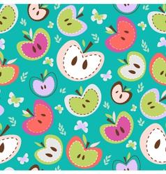 Retro Apples Seamless Background vector image