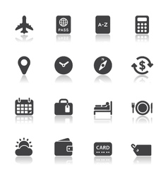 Travel icons for application vector
