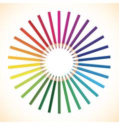 pencils round vector image