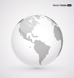 Abstract dotted globe central heating views over vector