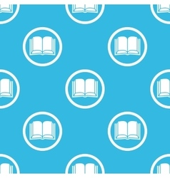 Book sign blue pattern vector