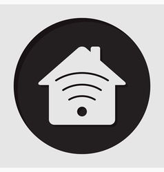 Information icon - house with signal vector