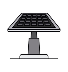 Solar panel isolated icon design vector