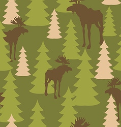 Army pattern of deer and forest Military vector image