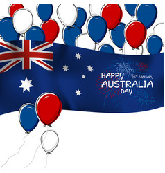 australia day design on white background vector image vector image