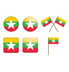 badges with flag of Burma vector image