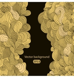 Black beautiful vintage swirl abstract gold card vector image vector image