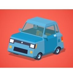 Blue compact car vector image