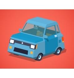 Blue compact car vector