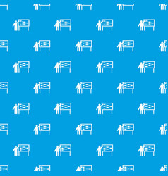 Businessman and presentation screen pattern vector
