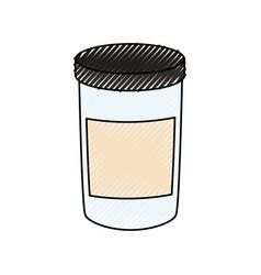 canning jar vector image