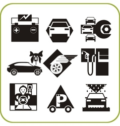 Car Service - Set of icons vector image vector image