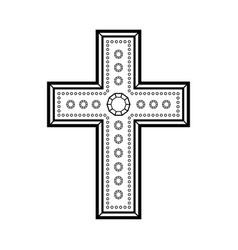 christian decorative cross vector image vector image