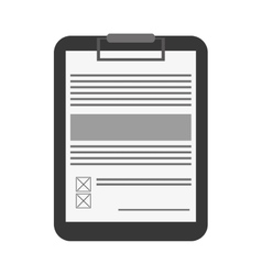 clipboard with document icon vector image