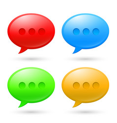 collection speech bubbles on white background vector image vector image
