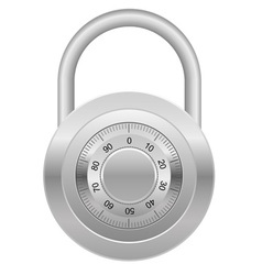 combination lock 03 vector image vector image