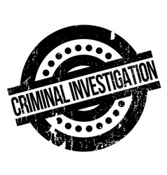Criminal investigation rubber stamp vector