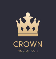 Crown logo element icon vector