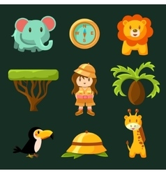 Female Jungle Explorer Collection vector image