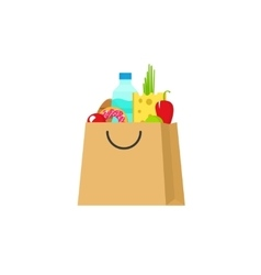Grocery bag isolated paper vector image vector image